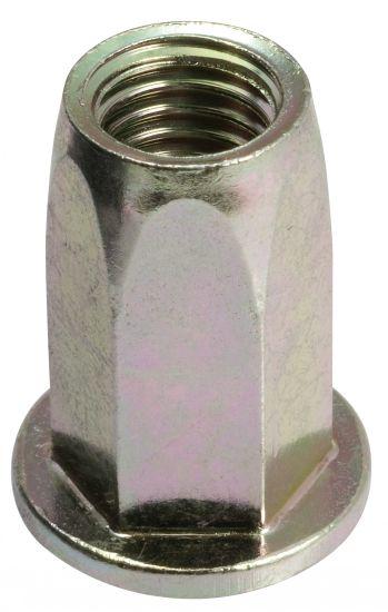 Ecrou noyé RIVKLE®  hexagonal tête plate