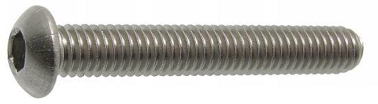 Tornillo cabeza cilindrica abombada con hueco hexagonal iso 7380 acero calidad 10.9 zincado blanco