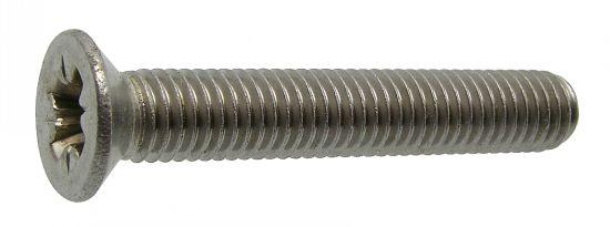 Tornillo de seguridad cabeza avallenada cruciforme z «pozi» din 965 acero calidad 4.8 zincado blanco