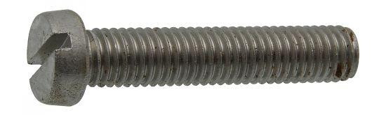 Tornillo de seguridad cabeza cilindrica ranurada din 84 acero calidad 4.8 zincado blanco