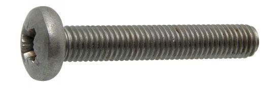 Tornillo de seguridad cabeza cilindrica abombada ancha cruciforme z «pozi» din 7985 acero calidad 4.8 zincado blanco