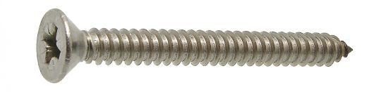 Tornillo rosca chapa cabeza avallenada cruciforme z «pozi» bout pointu din 7982 acero cementado zincado blanco