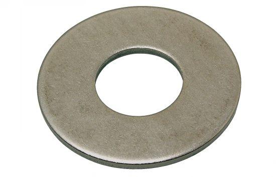 Arandela plana ancha l nfe 25513 acero 100 hv zincado blanco