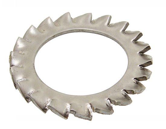 Arandela dentada exterior tipo  az nfe 27624 acero resorte zincado blanco 400 hbs