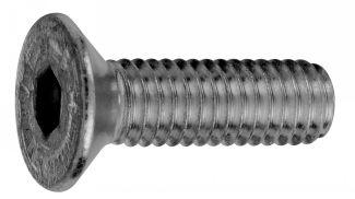 Tornillo cabeza avallenada con hueco hexagonal iso 10642 acero calidad 10.9 zincado blanco