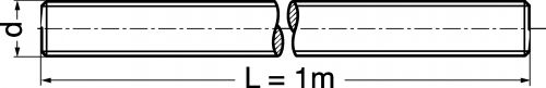 Schéma Tige filetée longueur 1 mètre