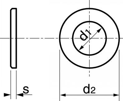 Schéma Rondelle plate moyenne M décolletée