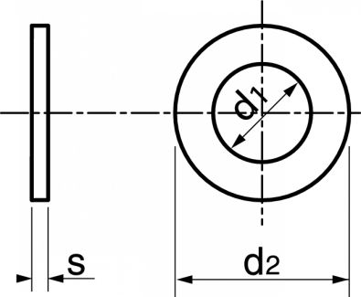 Schéma Rondelle plate normale Grade A