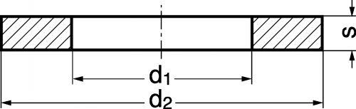 Schéma Rondelle plate étroite Grade A
