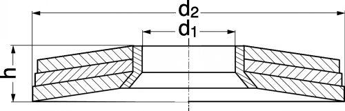 Schéma Rondelle conique assemblée 3 éléments