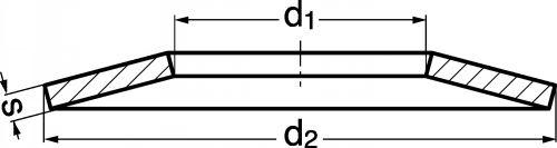 Schéma Rondelle ressort statique type BELLEVILLE