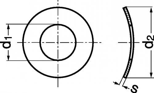 Schéma Rondelle élastique Onduflex 1 onde type A