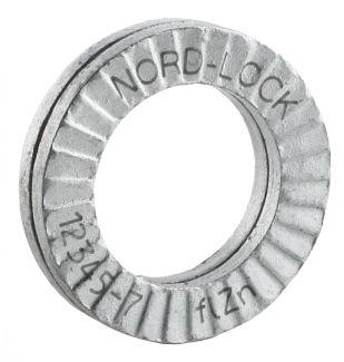 Arandela autoblocante nordlock®  de acero con revestimiento zincado delta protekt