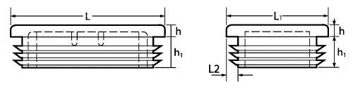 Schéma Embout rectangulaire à lamelles