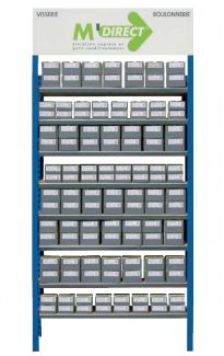 Etagère à tablettes tubulaire galva 8 niveaux