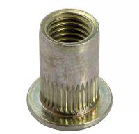 Ecrou noyé RIVKLE® cylindrique moleté tête plate