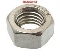 TUERCA HEXAGONAL DIN 934 - INOX A2 BATIMENT Inox A2 DIN 934 (Modelo : 62601)