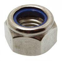 Tuerca hexagonal de seguridad con arandela nylon din 985 - inox a2